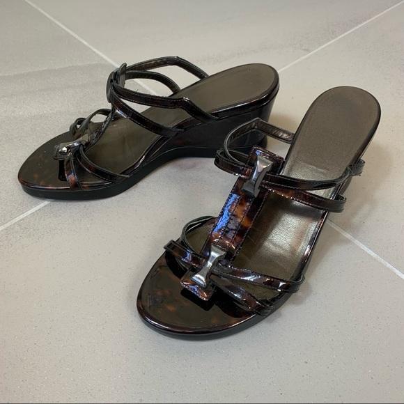 Stuart Weitzman Wedge Slides Sandals